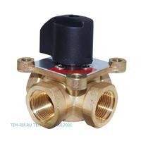 Четырёхходовой поворотный смесительный клапан ДУ-3/4 ручная регулировка TIM BL3813