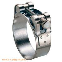 Хомут усиленный одноболтовый оцинкованная сталь 86-91мм TIM TW86-91-1