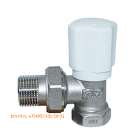 Клапан радиаторный настраиваемый угловой 3/4 TIM RS521.03