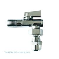 Кран шаровой ДУ-10*1/2 с фильтром с шарнирным соединением для смесителя с трубками TIM BL5829