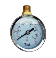 Манометр радиальный 10 бар, с верхним подключением TIM Y-50C-10bar