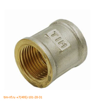 Муфта 3/4 г*3/4 г никелированная TIM SF033N