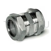 Муфта ДУ 15*15 соединительная (никелированная) TIM ZTI.613.001515N