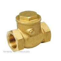 Обратный клапан 11/4 горизонтальный лепестковый присоединения TIM JH-1013C