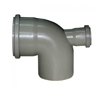 Отвод D 110х90* с выходом 50 фронтальный (тыл)