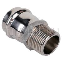 Пресс-фитинг из нержавеющей стали с наружной резьбой 35mm*11/4 TIM ZTI.501.003507