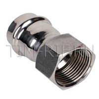 Пресс-фитинг из нержавеющей стали с внутренней резьбой 35mm*1 TIM ZTI.502.003506