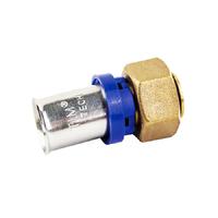 Пресс-фитинг, Муфта с накидной гайкой 16*1/2 внутр. под цангу TIM F-S1602FA-1