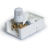 Регулировочный короб с термостатическим клапаном и  ограничителем температуры обратного потока TIM TCB-K-RTL01