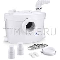 Санитарный насос с измельчителем для отвода из унитаза, раковины и ванны TIM AM-STP-400UP