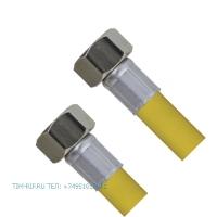 Шланг для газа с PVC покрытием 1/2Fx1/2F 80см. TIM C-GP26-8