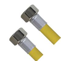 Шланг для газа с PVC покрытием 1/2Fx1/2F TIM C-GP26-10
