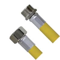"""Шланг для газа в оплётке с PVC покрытием 1/2"""" г/ш-180 см C-GP27-18"""
