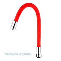 Силиконовый излив для смесителя красный TIM C-L50-02RD