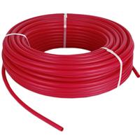 Сшитый полиэтилен PEX-b, диаметр Ø16 с кислородным барьером,  толщина стенки 2.0, красный цвет TPEX1620-100 Red