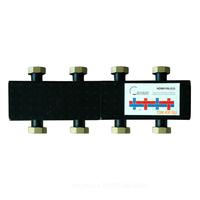 Стальной распределительный коллектор 4(7) отопительных контура. В теплоизоляции DN 25 TIM NDM0106-4(7)