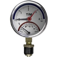 Термо-Манометр радиальный 6 бар TIM Y-80-6bar