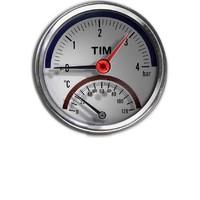 Термо-Манометр аксиальный 6 бар TIM Y-80T-6bar