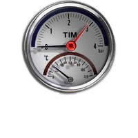 Термо-Манометр аксиальный 10 бар TIM Y-80T-10bar
