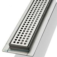 Трап-лоток с горизонтальным выпуском решетка с квадратной ячейкой 550 мм TIM BAD425502
