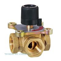 Трёхходовой поворотный смесительный клапан ДУ 11/2 ручная регулировка TIM BL3806
