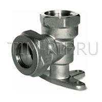 Угольник с креплением ДУ 15*1/2 вн.резьба (водорозетка) (никелированный) TIM ZTI.624.001504N